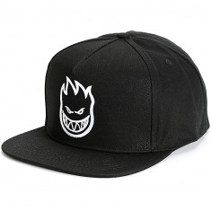 Spitfire Bighead Snapback Hat - Black/White Ink