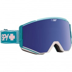 Spy Ace Womens Snowboard Goggles - Aurora Light Blue/Happy Dark Blue Spectra with Happy Lucid Blue