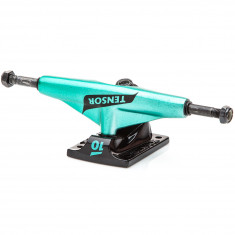 Tensor Alum Lo TENs Flick Skateboard Trucks - Black/Teal