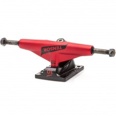 Tensor Mag Light Lo Flick Skateboard Trucks - Red/Black