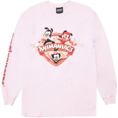 The Hundreds X Animaniacs Shield Long Sleeve T-Shirt - Pink