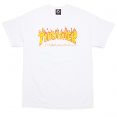 Thrasher Flame T-Shirt - White