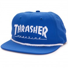 Thrasher Logo Rope Snapback Hat - Blue