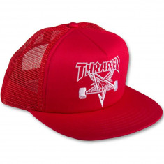 Thrasher Skate Goat Emb Mesh Hat - Red/White