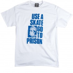 Thrasher Use A Skate Go To Prison T-Shirt - White