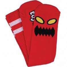 Toy Machine Monster Face Socks - Red