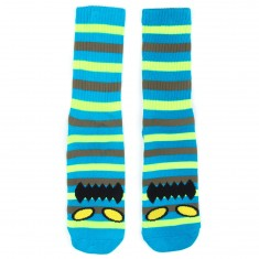 Toy Machine Skateboards Monster Stripe Socks - Neon