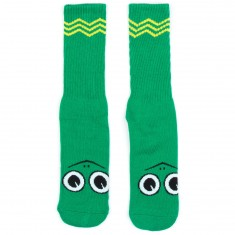 Toy Machine Skateboards Turtle Boy Socks - Green