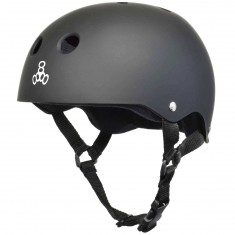 Triple Eight Brainsaver Get Used To It Skateboard Helmet - Black Rubber