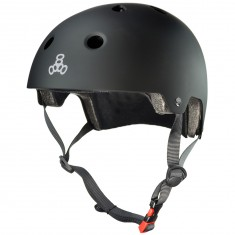 Triple Eight Brainsaver Dual Certified Skateboard Helmet - Black Rubber