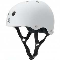 Triple Eight Brainsaver Skateboard Helmet - White Rubber