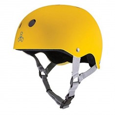 Triple Eight Brainsaver Skateboard Helmet - Yellow Rubber