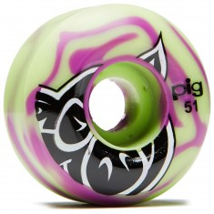Pig Head Swirl Speedline skateboard Wheels - 51mm