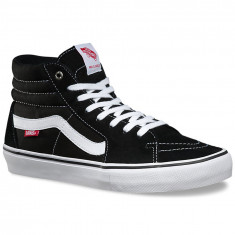 Vans Sk8-Hi Pro Shoes - Black/Canvas Suede/White