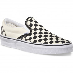 Vans Classic Slip-On Checkerboard Shoes - Black/White