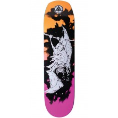 Welcome Infinitely Batty on Helm of Awe 2.0 Skateboard Deck - Orange/Pink - 8.38