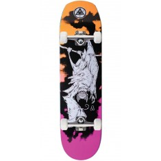 Welcome Infinitely Batty on Helm of Awe 2.0 Skateboard Complete - Orange/Pink - 8.38