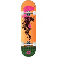 Welcome Koi Boi on Big Bunyip Skateboard Complete - Neon Orange - 8.5