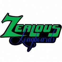 Zealous Longboards Script Logo Sticker
