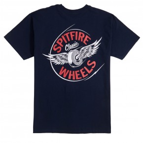 Spitfire Flying Classic T-Shirt - Navy/Red/White