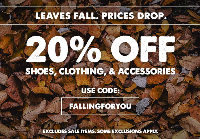 20 Off Clothing, Shoes, and Accessories